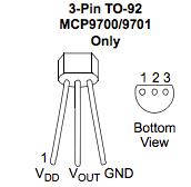 MCP9700pinout